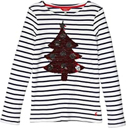 Navy Xmas Tree Stripe