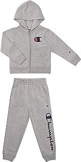 Champion Boys Newborn Infant Two Piece Hooded Fleece Pant Sport Sets