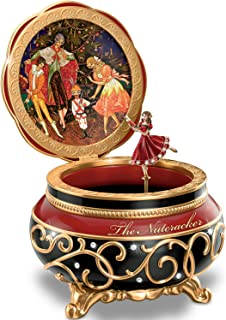 The Bradford Exchange Clara and The Nutcracker Heirloom Porcelain Music Box with Russian Style Art