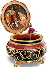 Bradford Exchange Clara And The Nutcracker Heirloom Porcelain Music Box with Russian Style Art by The