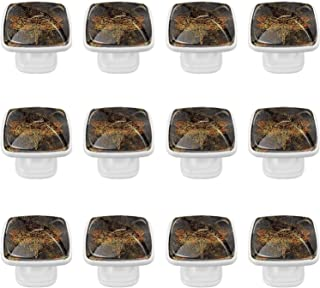 Boutons D'armoire 12 Pcs Poignés Poignée De Champignons Porte Poignées avec Vis pour Cabinet Tiroir Cuisine,Insectes trans...