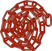 Waarschuwingsketting, kunststof waarschuwingsketting veiligheidsparkeerplaats kunststof ketting met 2 kunststof haken Link...