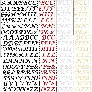 704 Pieces Iron-on Letters Heat Transfer Vinyl Letters DIY Fabric Vinyl Alphabets PU HTV Vinyl Iron-on Letters Applique Al...