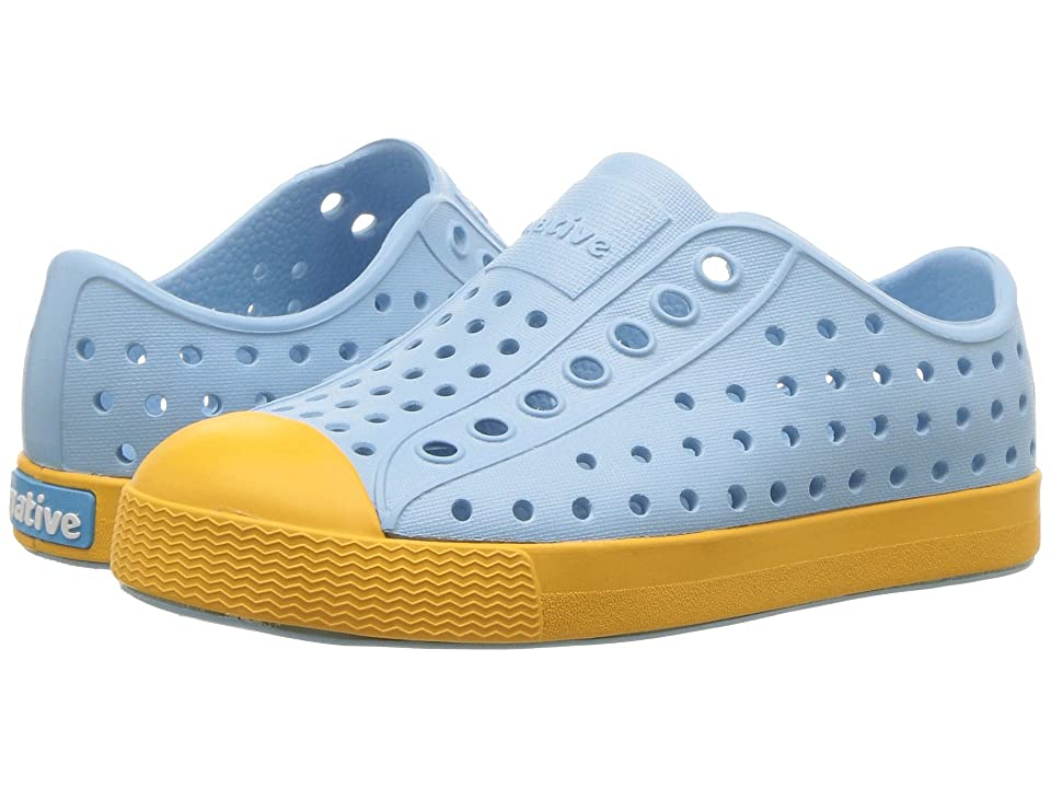 Native Kids Shoes Jefferson (Toddler/Little Kid) (Sky Blue/Beanie Yellow) Kids Shoes