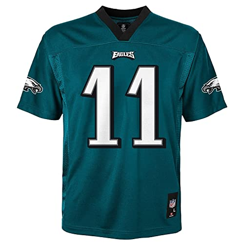 b5491289 Carson Wentz Philadelphia Eagles NFL Youth Green Home Mid-Tier Jersey