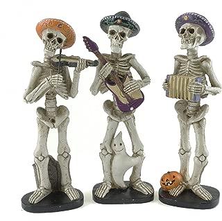 Gerson Spooky Skeleton Mariachi Band Halloween Figurines - Set of 3