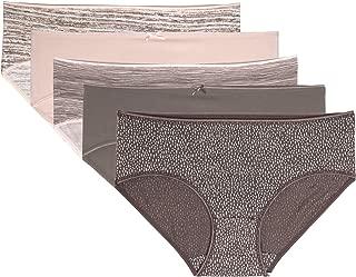 Juliet Women's Printed Cotton Lycra Pack of 5 Hipster Panties