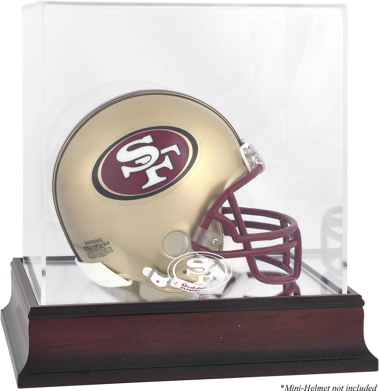 San Francisco 49ers Mahogany Logo Mini Helmet Display Case  Fanatics Authentic Certified  Football Mini Helmet Free Standing Display Cases