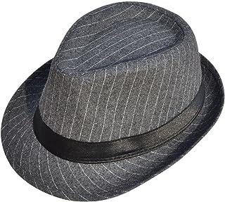 4d78543b093a2 Simplicity Men s   Women s Manhattan Structured Gangster Trilby Wool Fedora  Hat Black