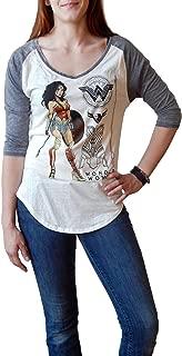 Wonder Woman Posed Heather V-Neck Raglan T-Shirt