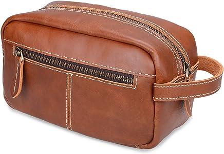 31b639c85a2e ALTOSY Mens Leather Toiletry Bag Travel Shaving Dopp kits Organizer Case  (YD8102