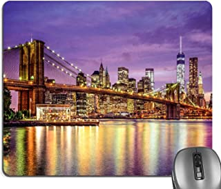 Knseva New York Mouse Pad, NYC Exquisite Skyline Manhattan Broadway Old Neighborhood Tourist Country Print Mouse Pads