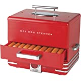 Nostalgia HDS248RD Extra Large Diner-Style Steamer 24 Hot Dogs and 12 Bun Capacity