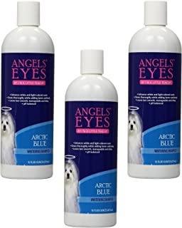 (3 Pack) Angels' Eyes Whitening Pet Shampoo, Arctic Blue - 16-Ounce Each