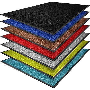 casa pura® Premium Fußmatte in attraktiver Optik | Schmutzfangmatte in vielen Größen | hellgrau | 90x120cm