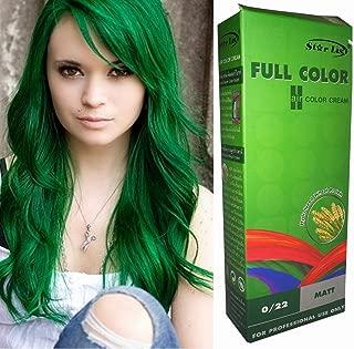 Premium Permanent Hair Color Cream Dye Goth Cosplay Emo Punk 0/22 GREEN by Starlist