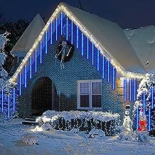 Meteor Shower Lights IP65 Waterdichte LED Fairy Lights, 80cm 8 buizen Meteor Rain Lights voor buiten kerstversiering en tu...