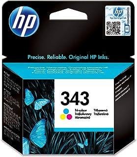 HP C8766EE 343 Original Ink Cartridge, Tri-color, Single Pack