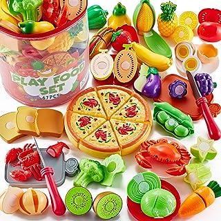 Shimirth 67Pc وانمود کنید مجموعه های غذایی Play برای کودکان آشپزخانه ، غذای اسباب بازی پیتزا