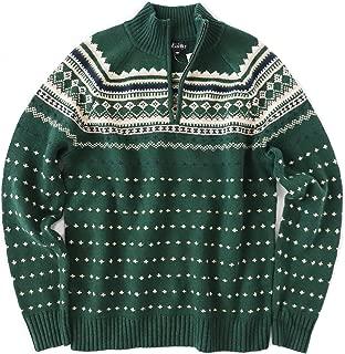 green fair isle sweater