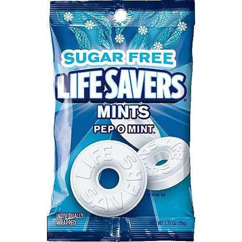 Life Savers Pep O Mint Sugar Free Hard Candy Bag, 2.75 ounce