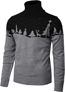 H2H Mens Casual Slim Fit Pullover Sweaters Christmas Patterned Long Sleeve Various Styles