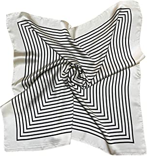 Square Stain Silk Like Hair Wrapping Scarves Night Sleeping Head Scarf