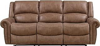 Emerald Home Furnishings Spencer reclining sofa, Standard, brown