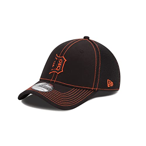 655a73d8e4242a MLB Detroit Tigers Black Neo 39Thirty Flex Fit Cap