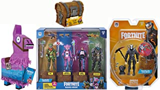 Fortnite Collectors Start Up Pack: Omega Early Game Survival Kits + Purple Llama Loot Box W/ Rust Lord Squad Mode 4 Figure Pack + Loot Chest (Frozen Should Pack)