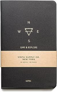 Explore Notes - Travel Notebooks - Black 3-Pack