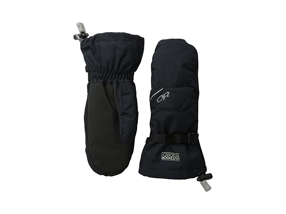 Outdoor Research Kids Adrenaline Mitts (Big Kids) (Black) Ski Gloves
