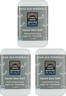 Sponsored Ad - DEAD SEA Salt SOAP 3 PK - Shea Butter, Argan Oil, Magnesium, Sulfur, Minerals. All Skin Types, Problem Skin...
