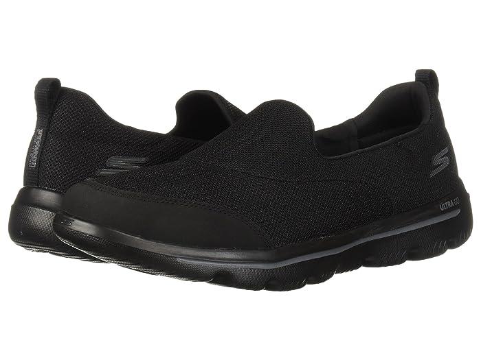 black and white skechers go walk