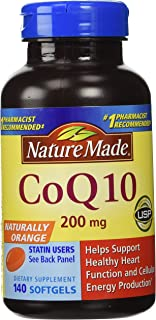 Nature Made CoQ 10 Liquid Softgels Naturally Orange 200 mg Value Size -140CT