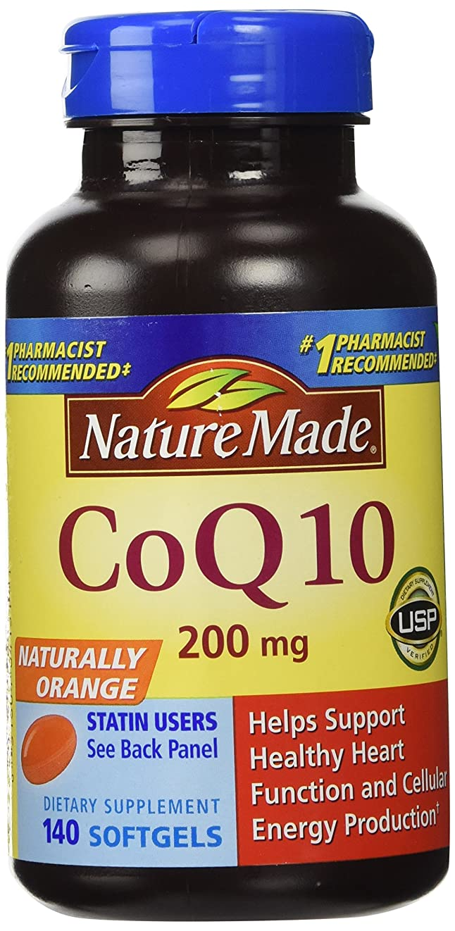 石なに従来のNature Made CoQ 10 Liquid Softgels Naturally Orange 200 mg Value Size -140CT by Nature Made