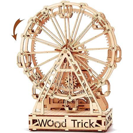 Wood Trick ウッドトリック フェリスホイール/観覧車 自転する3Dウッドパズル / 木製模型