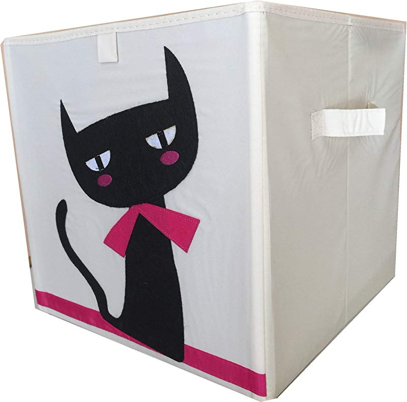 Foldable Kids Children Animal Cartoon Toy Bin Box Organizer Black Cat