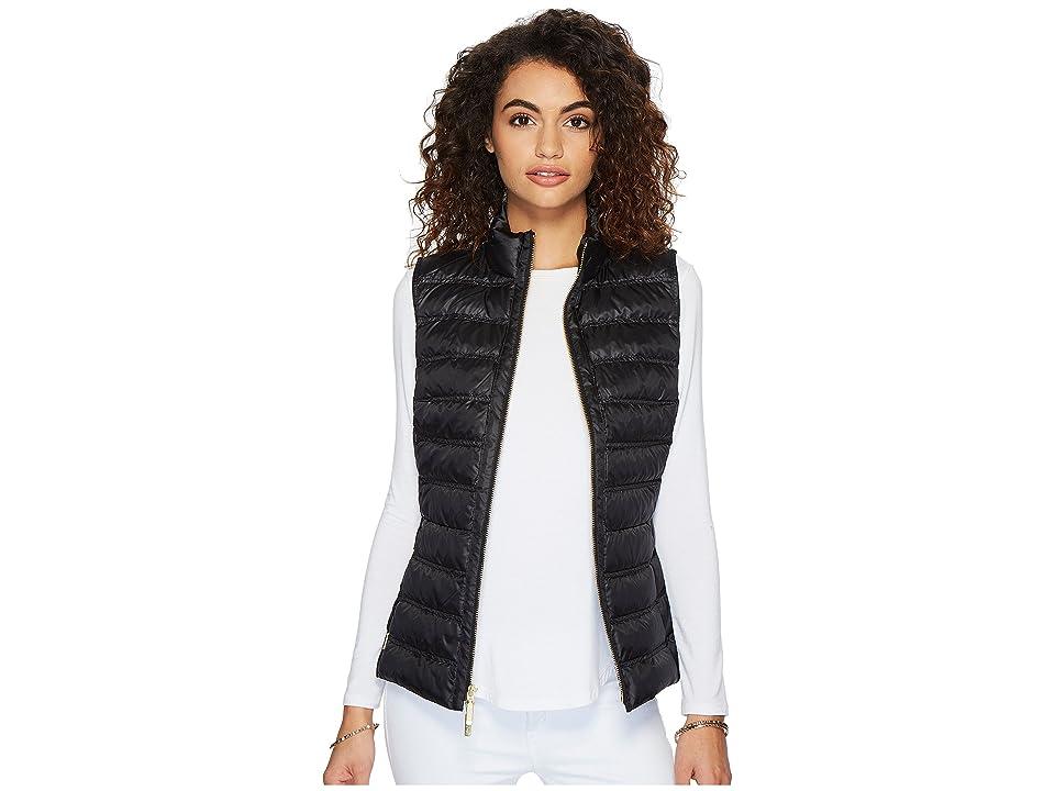 Lilly Pulitzer Elana Puffer Vest (Onyx) Women