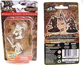 Pathfinder Deep Cuts Unpainted Minis: Female Dwarf Barbarian