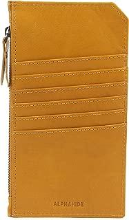 AlphaHide Ladies Mobile Pouch - Credit Card Wallet - Slim Clutch - Large Zipper Pocket- RFID