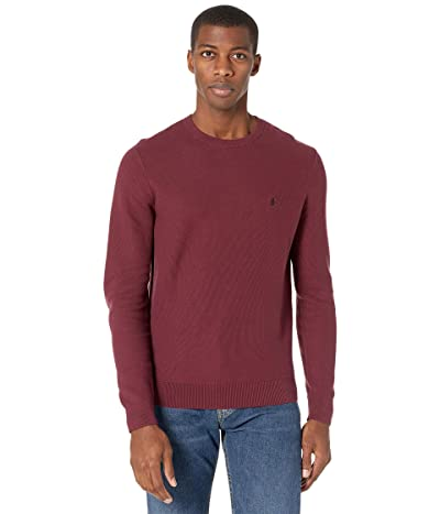 Original Penguin Tuck Stitch Crew Sweater (Tawny Port) Men
