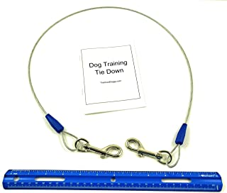 Dog Training Tie Out Cable, 3 Ft Begging Jumping Destructive Chewing Housetraining Counter Surfing Teething Puppy Potty Tr...