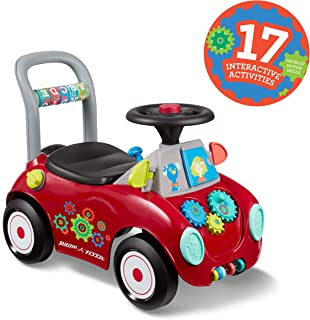 Radio Flyer Busy Buggy, Sit to Stand Toddler Ride On Toy, Ages 1-3, Red