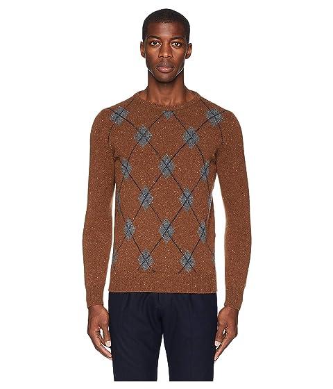 224947031 eleventy Tweed Argyle Cashmere Sweater at Zappos.com