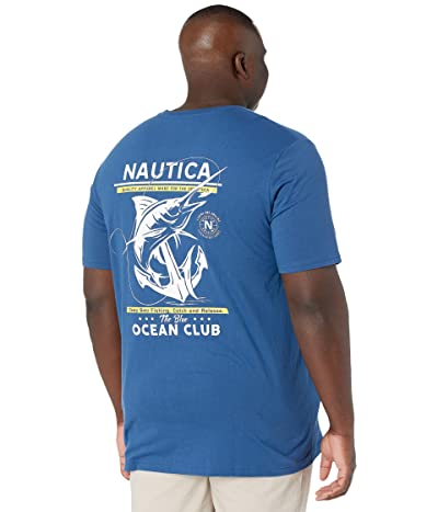 Nautica Big & Tall Big Tall Short Sleeve T-Shirt Crew Neck (Undercurrent) Men