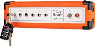Guitar Amp Wall Key Holder with 6 Keychains. The Key Board by DropLight Ind. Amp Inspired. American Made. (Orange)