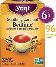 Yogi Tea - Soothing Caramel Bedtime - Supports a Good Night's Sleep - 6 Pack, 96 Tea Bags Total