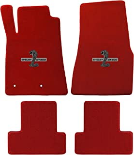 2005-2010 Mustang & Shelby Red Floor Mats with Cobra GT500 Logo