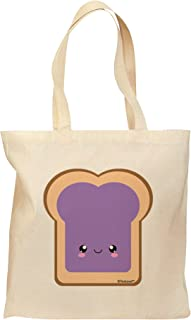 TooLoud Cute Matching Design - PB and J - Jelly Grocery Tote Bag - Natural